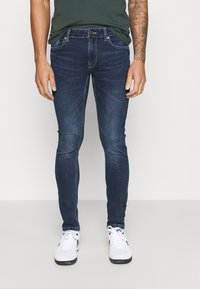 Only & Sons - ONSLOOM SLIM - Slim fit -farkut - dark-blue denim - 0