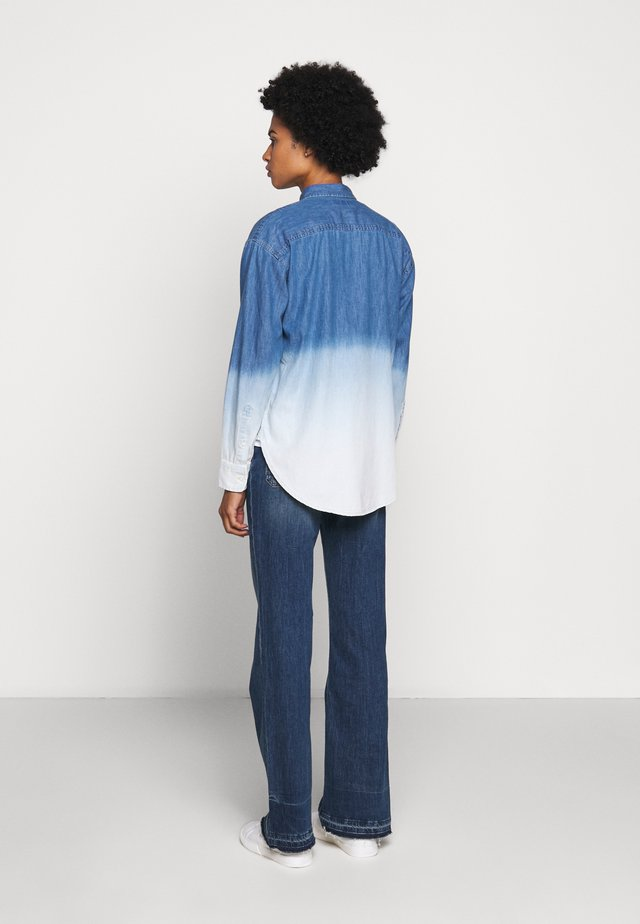 ULTRA - Button-down blouse - dipped indigo wash