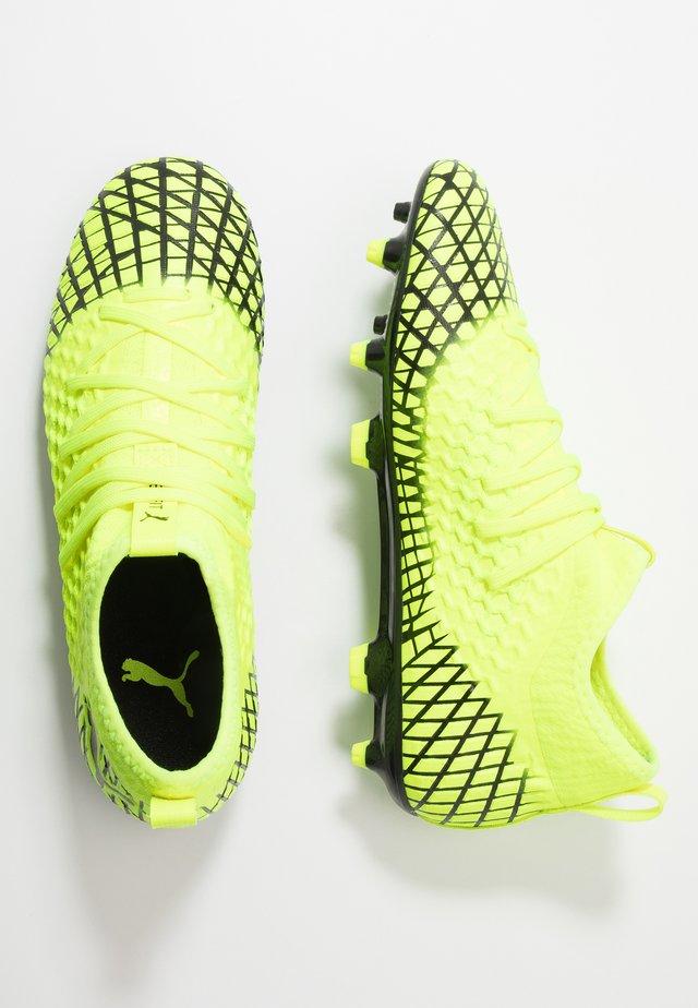 FUTURE 4.3 NETFIT FG/AG - Moulded stud football boots - yellow alert/black