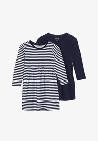 Zalando Essentials Kids - 2 PACK - Jersey dress - peacoat/winter white - 3