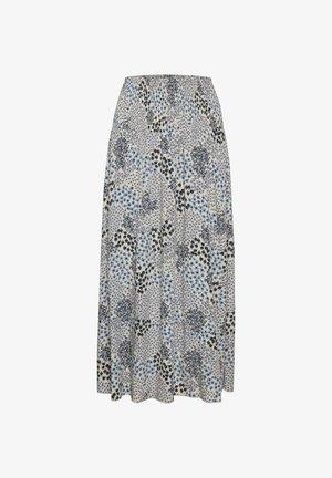 A-line skirt - dapple blue hill garden