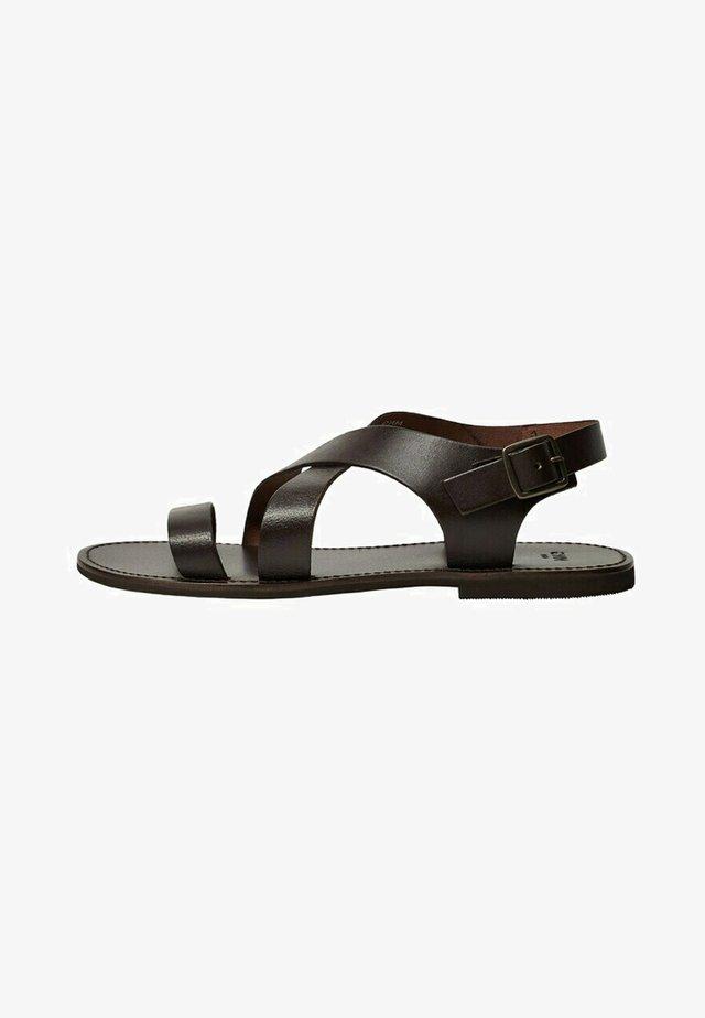ROMANA1 - Sandaalit nilkkaremmillä - schokolade