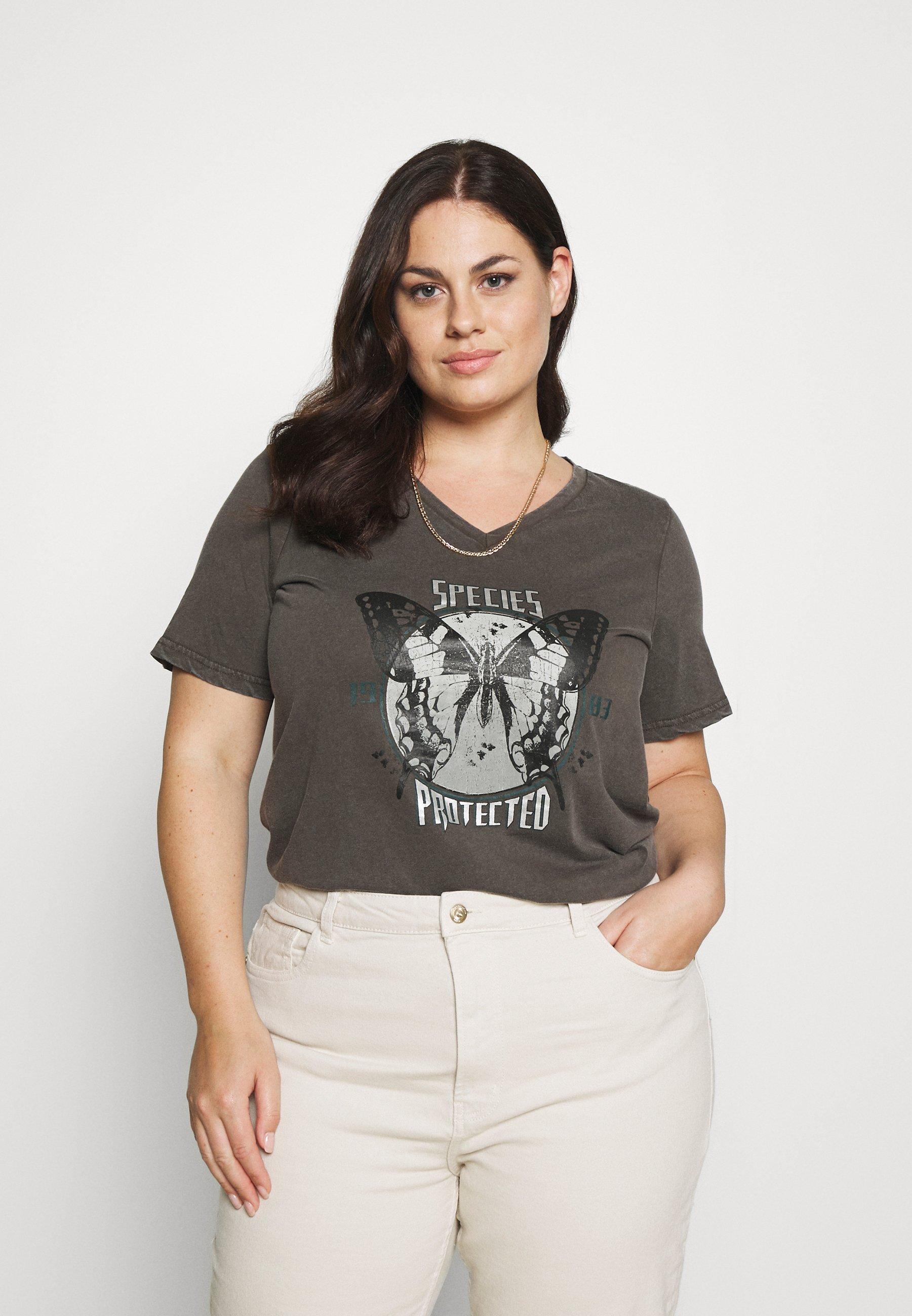 Women VLILY STRAIGHT TEE - Print T-shirt