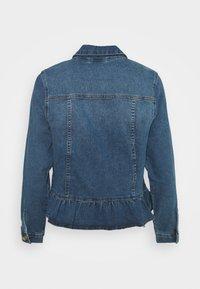 ONLY Petite - ONLALLY FRILL JACKET - Denim jacket - medium blue denim - 1