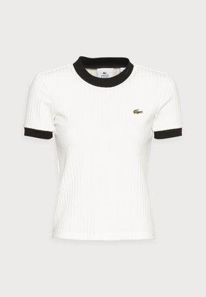 Print T-shirt - farine/noir