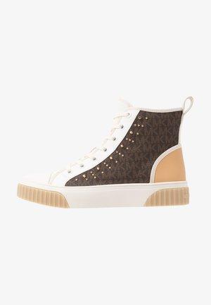 GERTIE STUDDED TOP - Sneakersy wysokie - brown