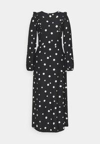 Dorothy Perkins - FOCHETTE MIDI SPOT - Jumper dress - black - 1
