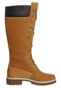 Timberland - Šněrovací vysoké boty - wheat nubuck - 5