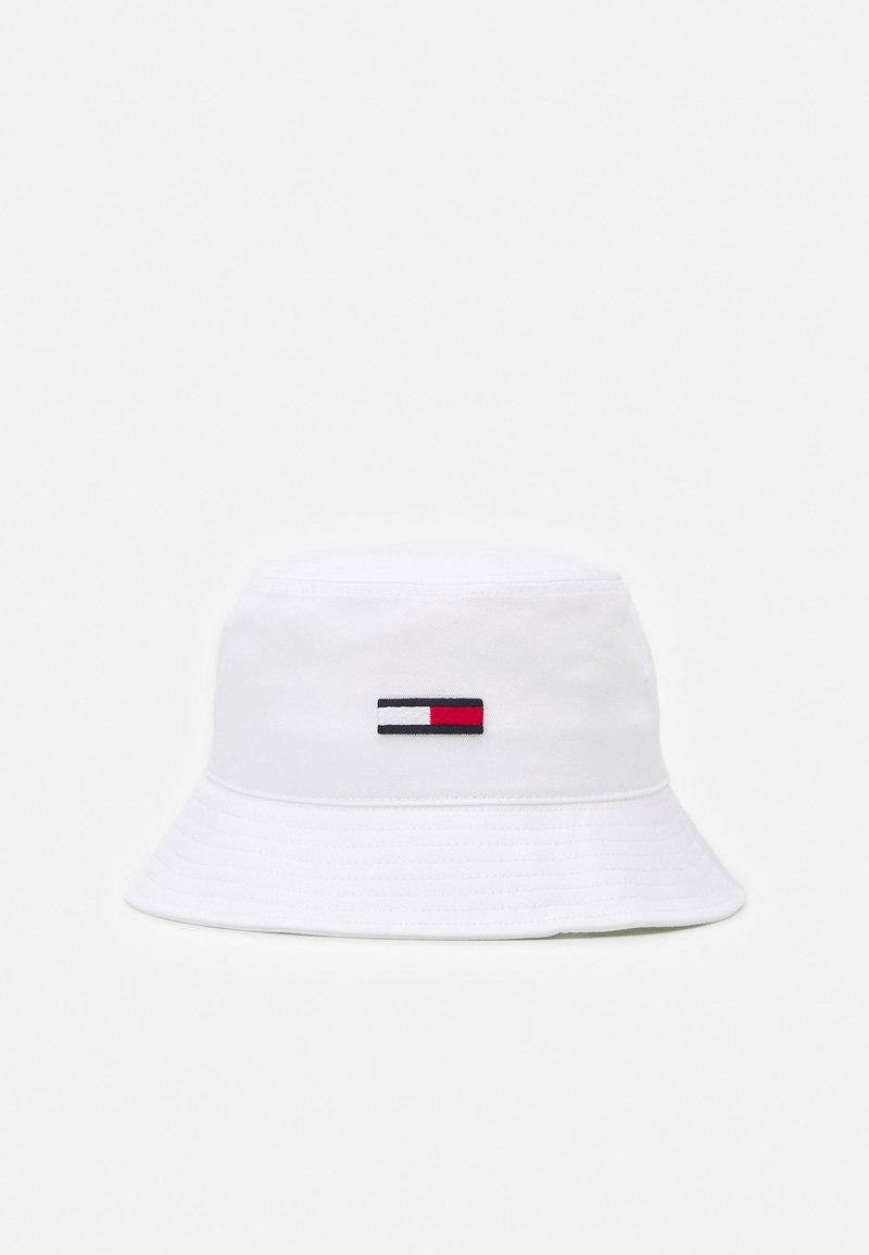 Tommy Jeans - FLAG BUCKET HAT UNISEX - Hat - white