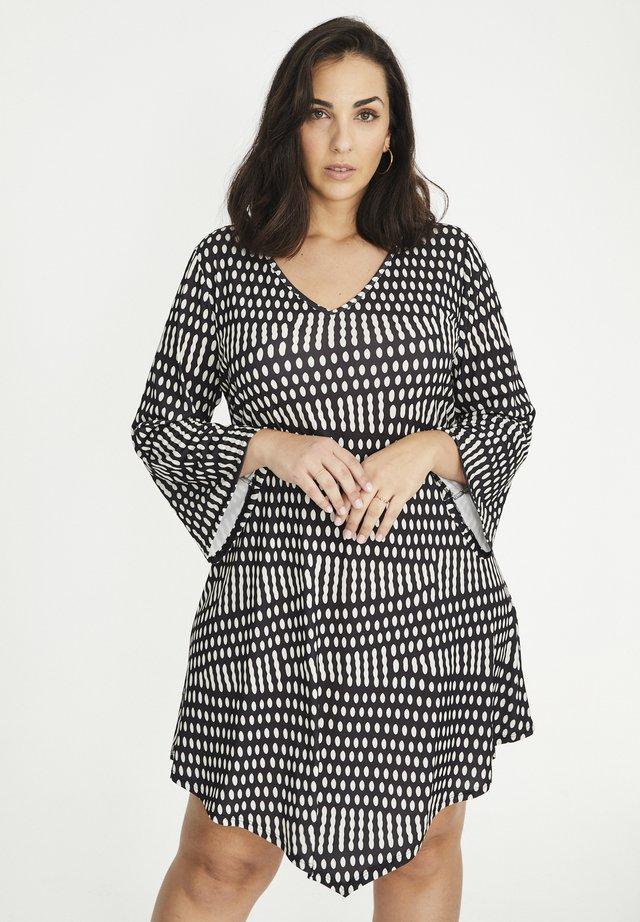 MIT PUNKTMUSTER - Korte jurk - schwarz