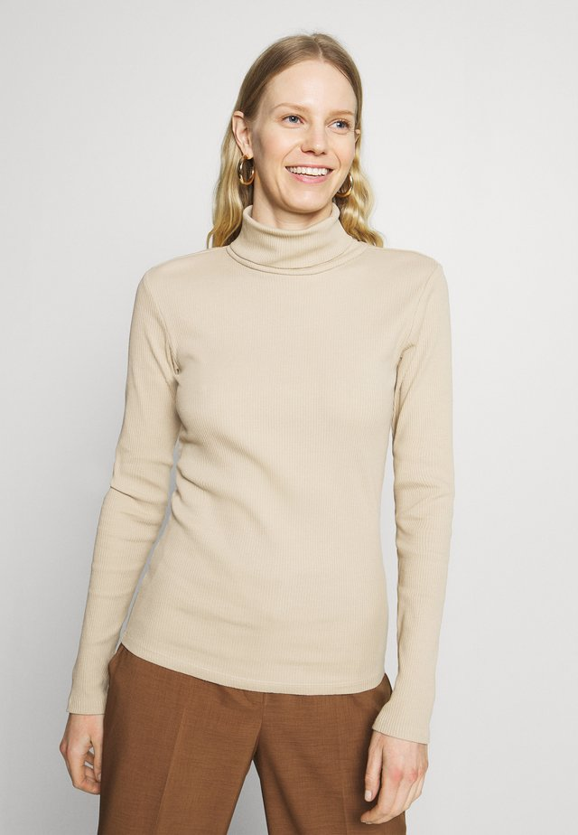 ROLLNECK - Long sleeved top - beige