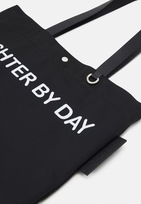 Neil Barrett - FIGHTER BY DAY LOVER BY NIGHT TOTE BAG UNISEX - Tote bag - black/white - 5