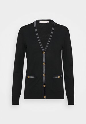 COLOR BLOCK MADELINE CARDIGAN - Kardigan - black/medium navy