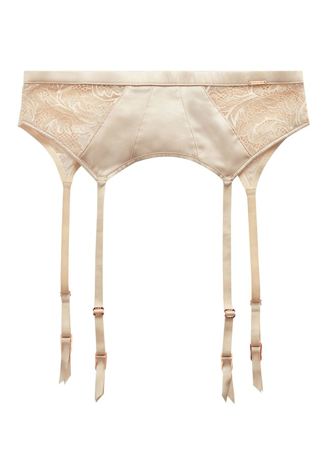 SIGNATURE SILK AND LACE - Suspenders - off-white
