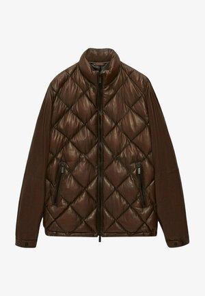 Leather jacket - ochre
