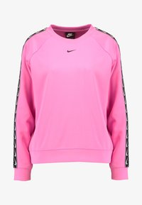 Nike Sportswear - CREW LOGO TAPE - Sweatshirt - china rose/black - 4