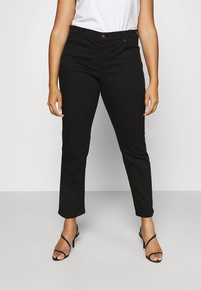Lauren Ralph Lauren Woman - MIDRISE - Jeans Skinny Fit - black wash