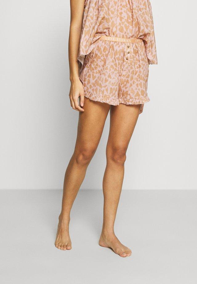 BUTTER - Spodnie od piżamy - heart leo/velvet haze