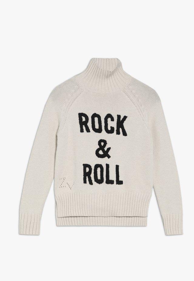 ROLLKRAGENPULLI - Pullover - hell beige