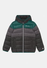 Champion - COLOR BLOCK JACKET UNISEX - Winter jacket - black/green/dark grey - 0