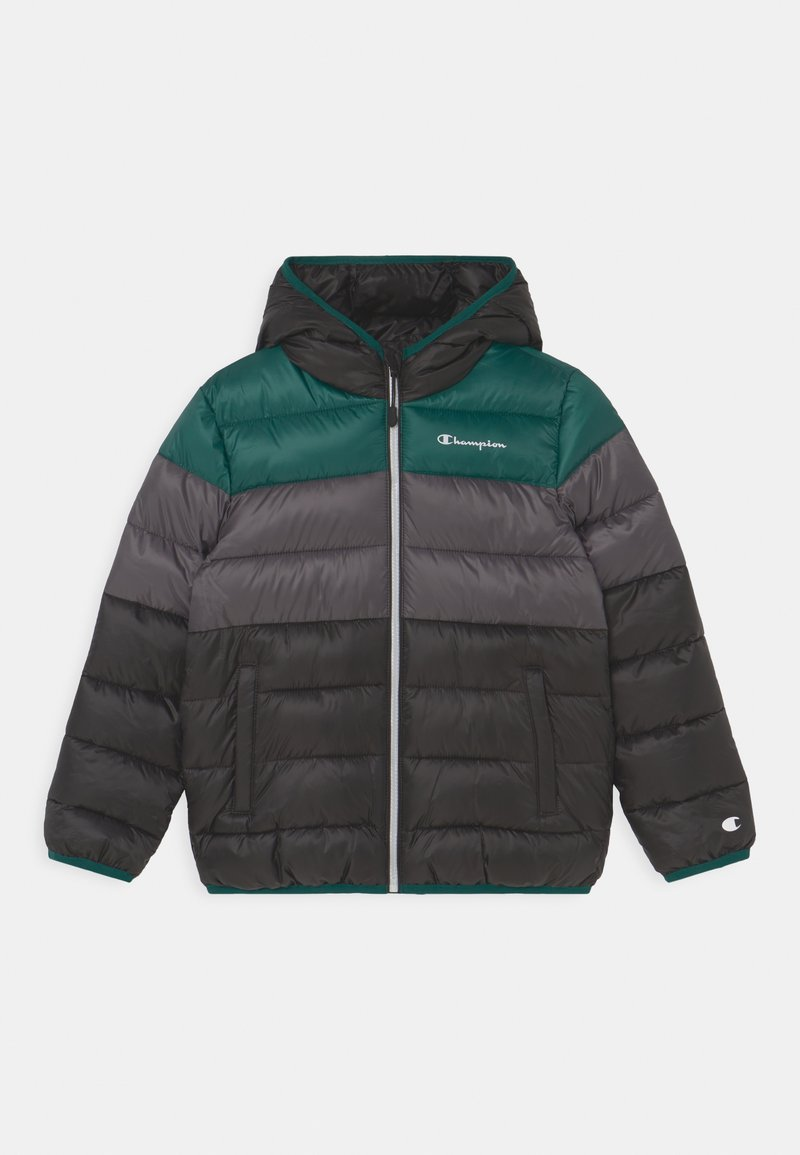 Champion - COLOR BLOCK JACKET UNISEX - Winter jacket - black/green/dark grey