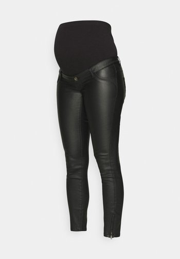 OLMKENDELL COATED - Bukse - black