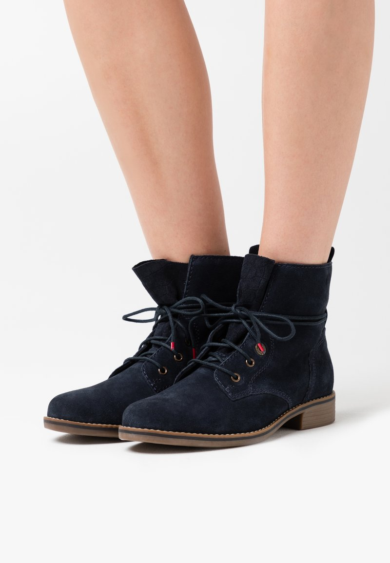 s.Oliver - WOMS  - Lace-up ankle boots - navy