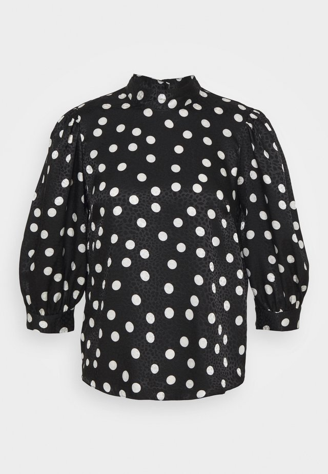 PUFF SLEEVE BLOUSE - Bluser - black