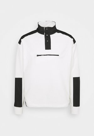 LOOPBACK FUNNEL NECK OVERHEAD - Sweatshirt - white