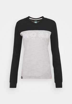 REDWOOD ENDURO  - Long sleeved top - black/grey marl