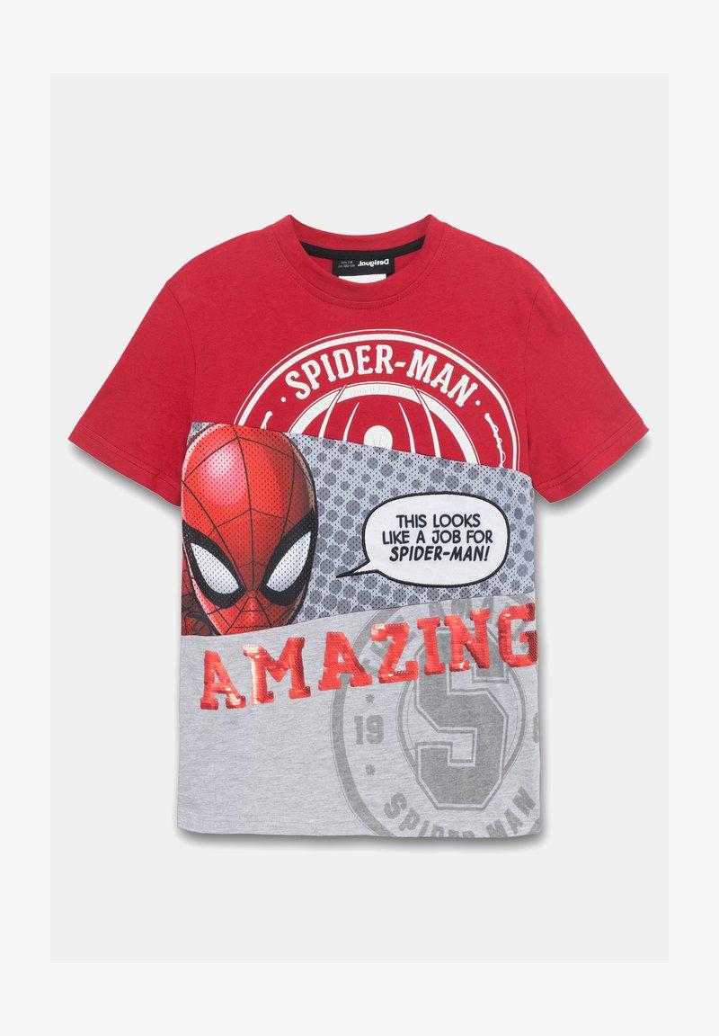 Desigual - MARVEL - Print T-shirt - red