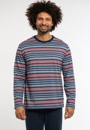 Pyjama top - blau-gestreift