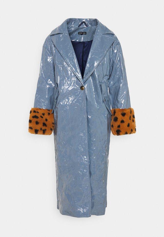 RAIN FLOWER - Classic coat - blue