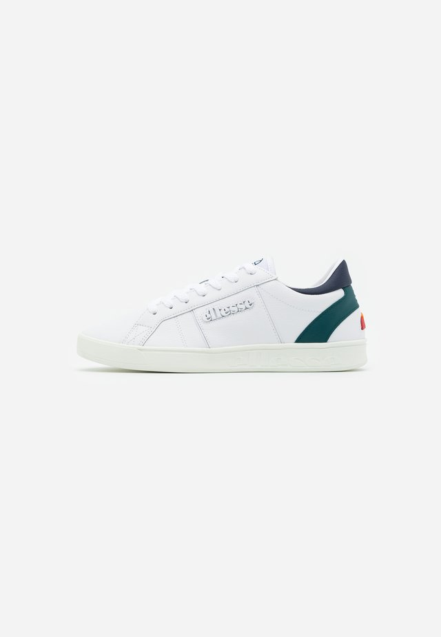 Joggesko - white/dark green/dark blu