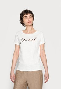 Opus - SOI MIND - Print T-shirt - milk - 0