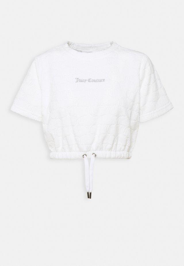 TOWELLING TATUM - T-shirt print - white