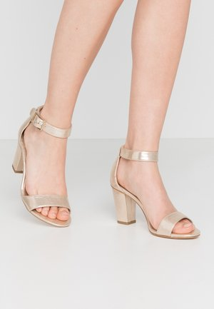 Sandals - champagne metallic