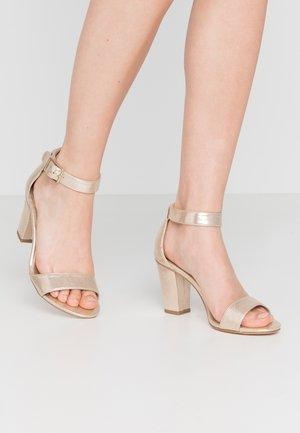 Sandály - champagne metallic