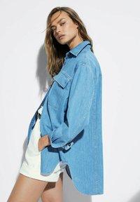 Massimo Dutti - Button-down blouse - blue - 4