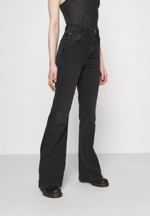 FLARE - Flared Jeans - washed black