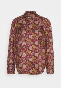 J.CREW - MAD TIGERS - Button-down blouse - vintage burgundy/multi - 0