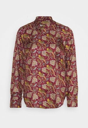 MAD TIGERS - Button-down blouse - vintage burgundy/multi