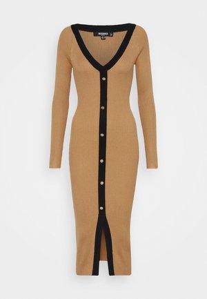 BUTTON THROUGH CARDI DRESS - Jumper dress - camel