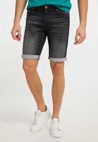 Petrol Industries - Denim shorts - black stone - 0