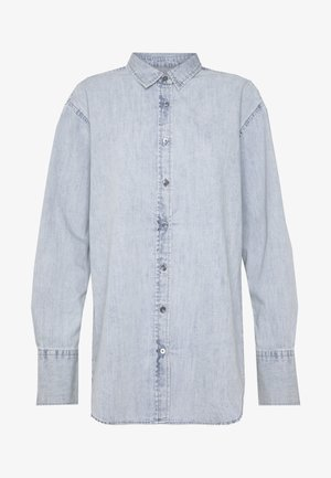 SANDRA - Button-down blouse - light blue