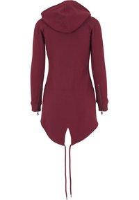 Urban Classics - Zip-up sweatshirt - burgundy - 1