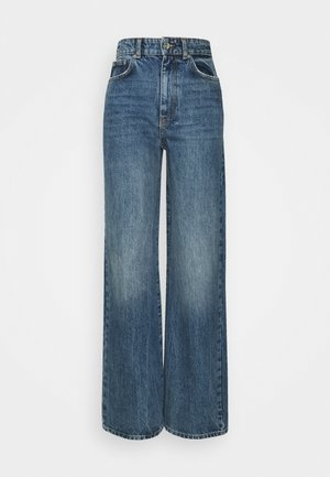 IDUN WIDE - Relaxed fit jeans - dark sea blue