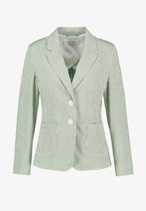Blazer - ecru/weiss/grün streifen