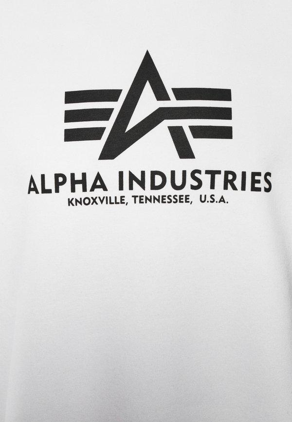 Alpha Industries BASIC - Bluza - white/biały Odzież Męska SKKJ