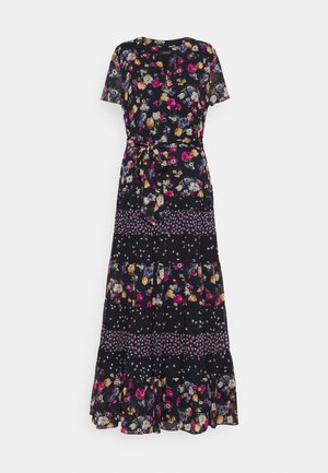 PRINTED GEORGETTE DRESS - Maxi dress - lighthouse navy